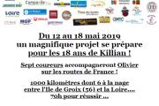 1000 KM pour Killian SAMEDI 18 MAI